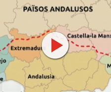 "Mapa de los ""Países Andaluces"" que la ANA defendió en TV3. / TWITTER"