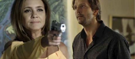 Laureta atira em Remy, na tentativa de matar o próprio irmão