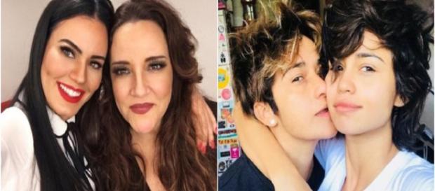Nanda Costa e Ana Carolina são exemplos de famosas que assumiram relacionamenros homoafetivos. (Foto: Reprodução Internet)