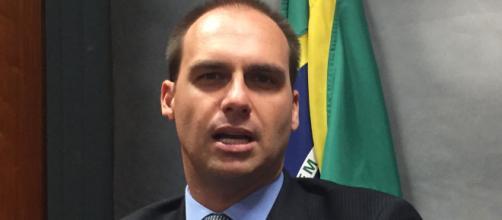 Deputado federal mais votado, Eduardo Bolsonaro. (foto reprodução).