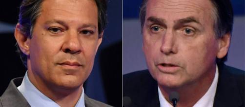 A presidência do Brasil se discute entre um professor (Haddad) e um capitão do Exército (Bolsonaro)