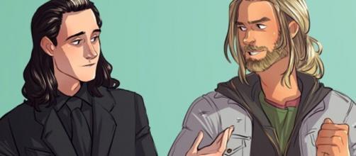 Thor e Loki, os dois filhos de Odin.