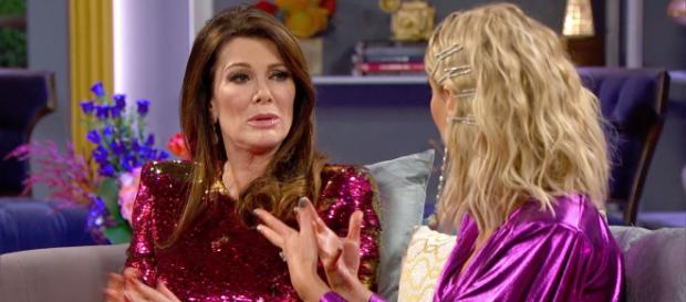 Lisa Vanderpump is seen at the 'RHOBH' season eight reunion. [Photo via Bravo/YouTube]