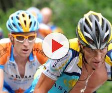 Lance Armstrong e Bradley Wiggins al Tour 2009.