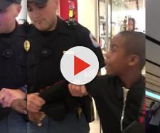 Le immagini dell'arresto del bambino