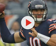 Mitchell Trubisky and the Bears will host the Patriots in Week 7. [Image source: Sporting News/YouTube]