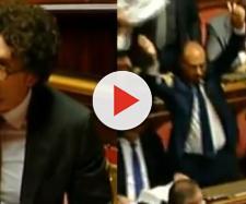 Toninelli si rivolge agli studenti e in Senato si scatena la bagarre (Ph. Youtube)