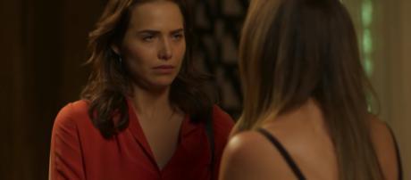 Em Segundo Sol Laureta será espionada por Rosa. (foto reprodução).