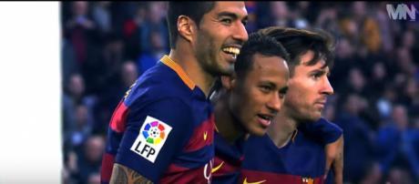 Suárez, Neymar e Messi [Imagem via YouTube]