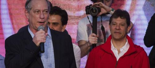 Ciro Gomes (PDT) e Fernando Haddad (PT). Fonte: Revista Forum