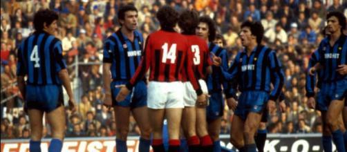 Fase convulsa di Milan-Inter 0-1, stagione 1981/82, disputata il 25 ottobre 1981