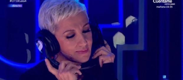 Ana Torroja, durante la actuación de María y Miki. / Getmusic