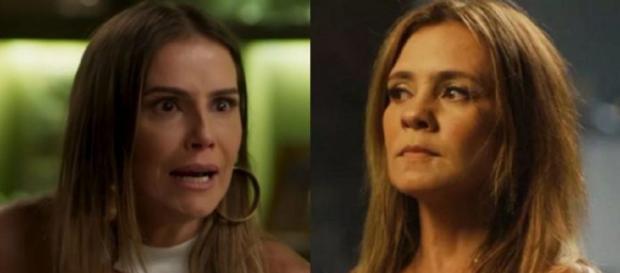 Karola (Deborah Secco) e Laureta (Adriana Esteves) de Segundo Sol (Reprodução/TV Globo)