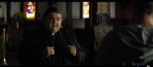 Hawaii Five-O star Jorge Garcia takes on a pivotal role as a priest in The Healer. [Image source:Burning Trailers-YouTube]