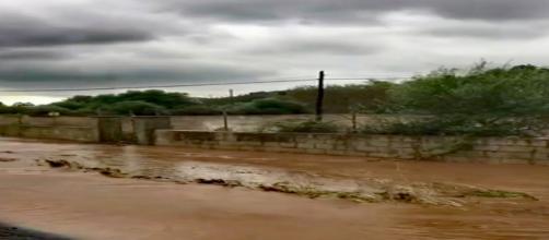 Inundaciones en el torrente de Port Pollença