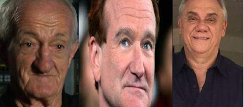Russo, Robin Williams e Marcelo Rezende. (foto reprodução).