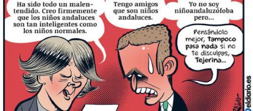Viñeta sobre el 'caso Tejerina' publicada por eldiario.es. / Bernardo Vergara