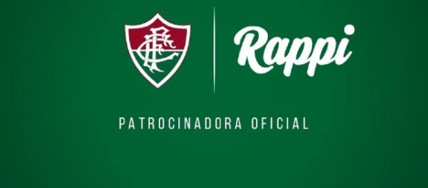 Empresa criada na Colômbia, Rappi é a nova parceira do Fluminense (Foto: Reprodução - Arte Gráfica FFC)