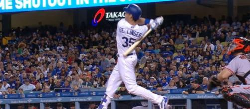 Cody Bellinger put the L.A. Dodgers on the board early with a two-run shot in Monday's NL West tiebreaker game. - [MLB / YouTube screencap]