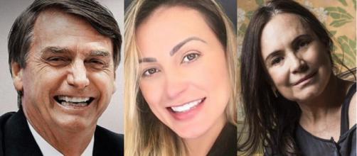 Famosas que apoiam Bolsonaro (Montagem).