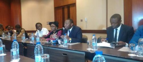 Le comité Veille civique citoyenne avec Morgan Palmer (c) Odile Pahai
