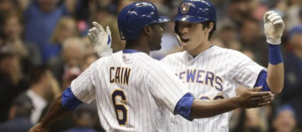 Yelich and Cain have been huge for the Brewers in 2018. - [MLB.com / YouTube screencap]