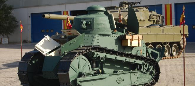 El Renault FT-17, el primer tanque español, vuelve a funcionar