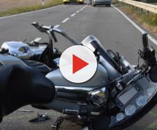 Unfall auf der L 612 in Richtung Horrenberg nach der Einmündung Unterhof mit einem Motorrad und einem Peugeot Auto