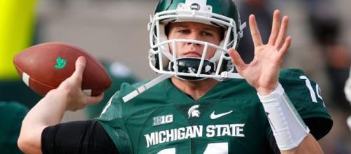 MSU quarterback gets ready for October 20 game. - [LansingState Journal / YouTube screencap]