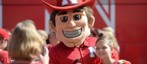 Nebraska mascot in action. - [Fansided.com / YouTube screencap]