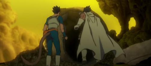 New Saiyan is called Beets. [image source: Toei Animation/YouTube screenshot]