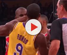Rajon Rondo may have spit in Chris Paul's face based on new video footage. - [ESPN / YouTube screencap]