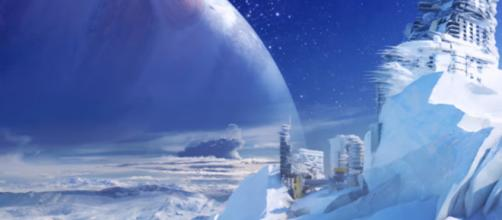 Early Destiny concept art showing Europa's icy landscape. - [MoreConsole / YouTube screencap]