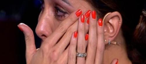 Belen Rodriguez in lacrime a Tu si que vales