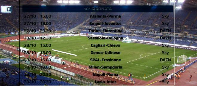 Calendario completo Serie A, 10° turno su Dazn e Sky: Lazio-Inter sarà una dura battaglia