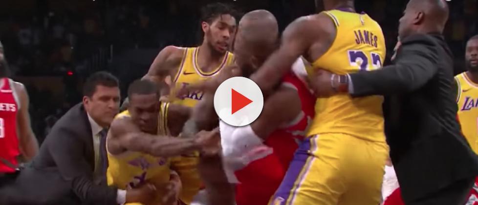 LeBron James comments on Rajon Rondo vs Chris Paul fight, Lakers loss [VIDEO]