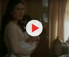 Erin Krakow made some memories with When Calls the Heart fans at the HFR4 before she gets busy with motherhood. [Image source:RyeTalk-YouTube]