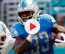 Kerryon Johnson had a huge day for the Lions in Week 7. [Image via ESPN/YouTube]