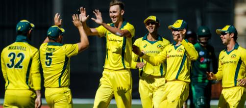 Aus vs UAE live streaming on Fox Sports (Image via ICC/TwitteR)