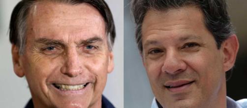 Bolsonaro etá com 20 pontos de vantagem sobre Haddad.