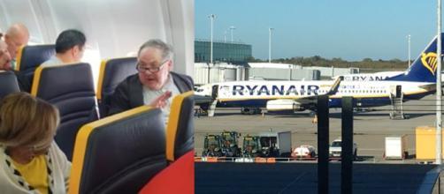 Ryanair incident sparks racial debate. [image source: @Taff_in-Exile - Twitter]