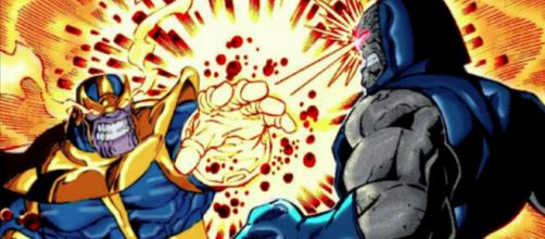 Thanos e sua contraparte do universo da DC Comics, Darkseid