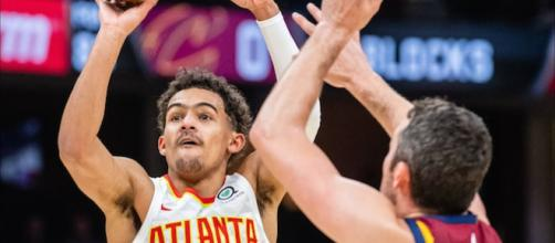 Trae Young recorded 35 points on October 21 in the Hawks' win over Cleveland. - [Chris Smoove / YouTube screencap]