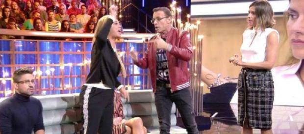 Belén Esteban y Carlos Lozano en Telecinco