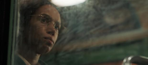 Vivette Robinson remains calm and composed in her portrayal of Rosa Parks (Image credit: screen grab from BBC Iplayer)
