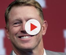 Nebraska coach is all smiles now. - [mlive.com / YouTube screencap]