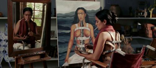 Cena do filme biográfico: Frida. (foto reprodução).