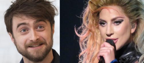 Daniel Radcliffe e Lady Gaga. (Foto/Reprodução via Google).