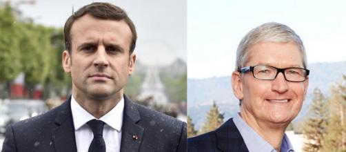 Emmanuel Macron a reçu Tim Cook, PDG d'Apple
