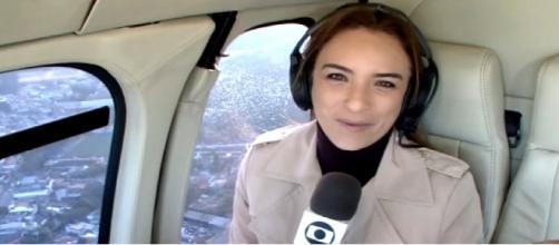 Repórter da Globo passou por um tremendo susto na manhã de segunda-feira (22) ao voar no Globocop. (foto reprodução).